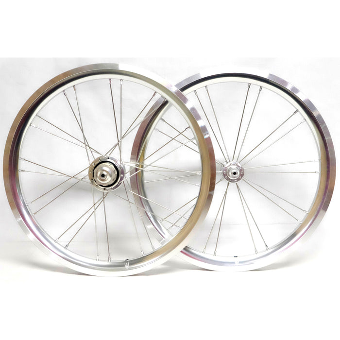 Wheelsport Brompton 2 Speed Alloy Wheelset - Polish Silver