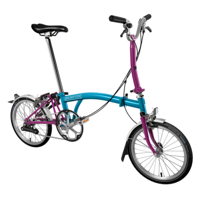 Brompton S2L 2018 - Lagoon Blue/Berry Crush