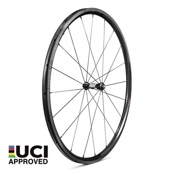 Xentis Squad 2.5 Race Tubeless Ready Carbon Clincher Wheelset - Black Decal