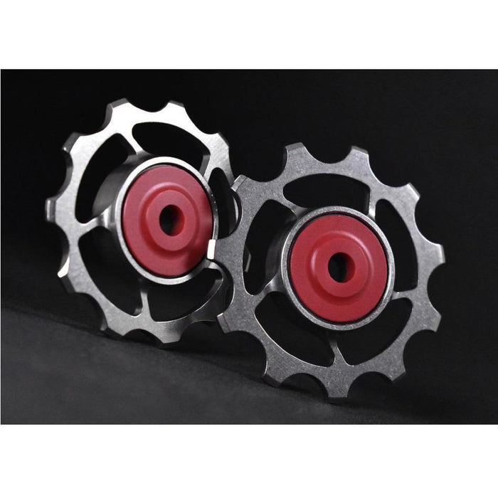 SLF Motion 11T Titanium Hyper Pulley Wheels - Raw Titanium