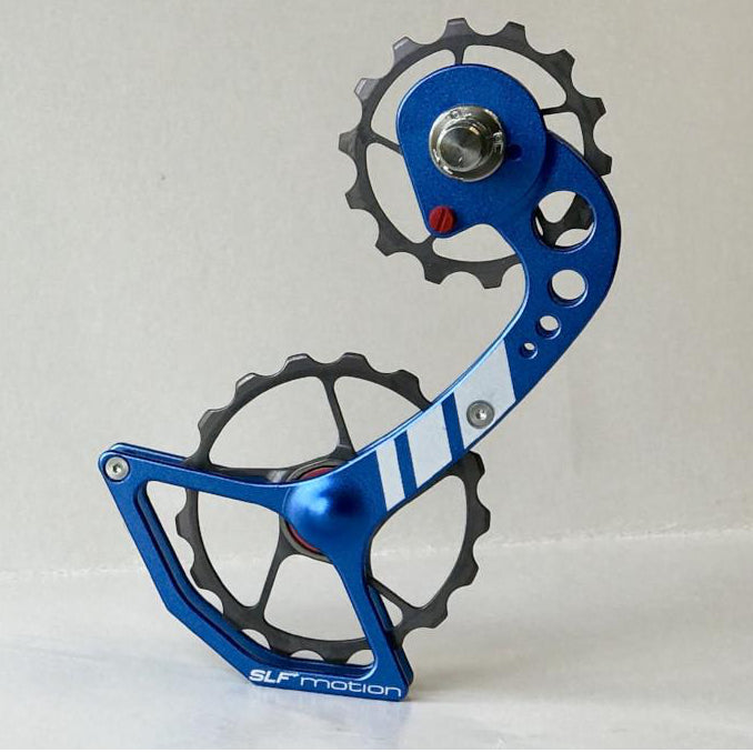 SLF Motion Hyper Speed System for New Shimano - Blue Cage/Gunmetal Grey Wheel