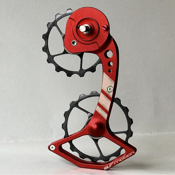 SLF Motion Hyper Speed System for SRAM Mechanical - Red Cage/Gunmetal Grey Wheel