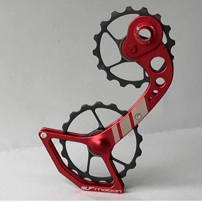 SLF Motion Hyper Speed System for Old Shimano - Red Cage/Gunmetal Grey Wheel