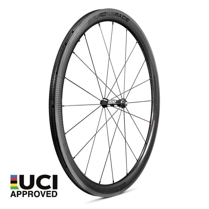Xentis Squad 4.2 Race Tubeless Ready Carbon Clincher Wheelset - Black Decal
