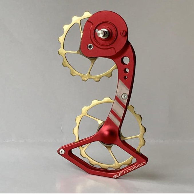 SLF Motion Hyper Speed System for SRAM Mechanical - Red Cage/Gold Wheel