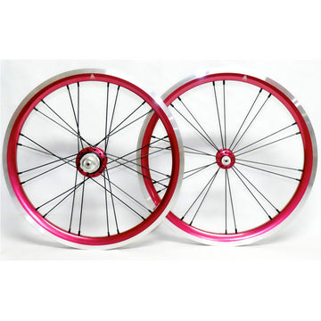 WheelSport Magic 349 Brompton 2 Speed Alloy Wheelset - Red - SpinWarriors