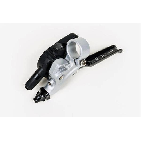 Brompton 2 Speed Left Shifter with Integrated Brake Lever - Silver/Black