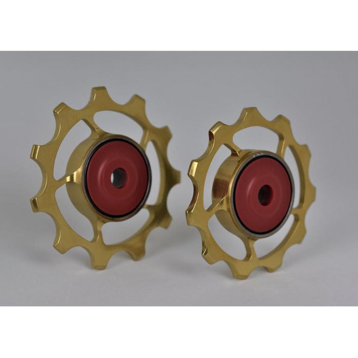 SLF Motion 11T Titanium Hyper Pulley Wheels - Gold
