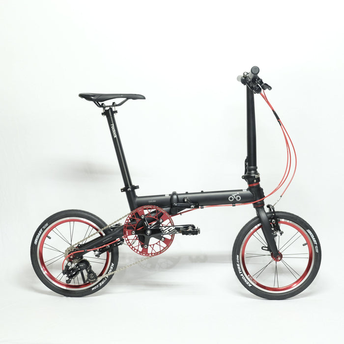 Flock OTD 16 - 3 Speed Folding Bike - Matte Black