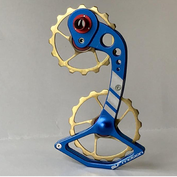 SLF Motion Hyper Speed System for Old Shimano - Blue Cage/Gold Wheel