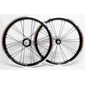 WheelSport Magic 349 Brompton 2 Speed Alloy Wheelset - Black - SpinWarriors