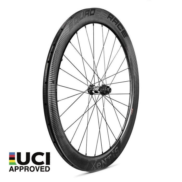 Xentis Squad 5.8 Race Tubeless Ready Carbon Clincher Disc Brake Wheelset - Black Decal