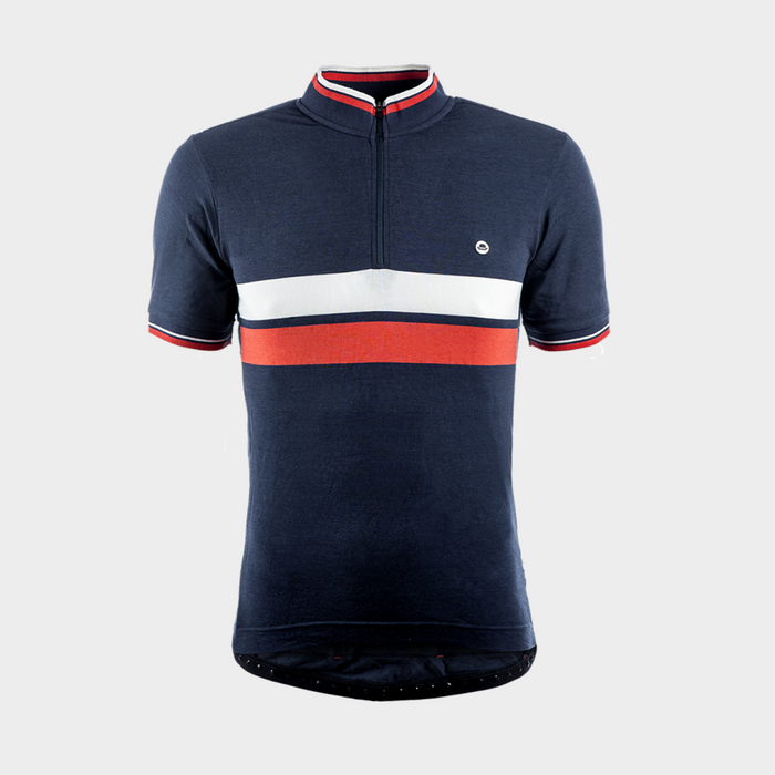 Chapeau! Cafe Twin Stripe Jersey - Petrol Blue