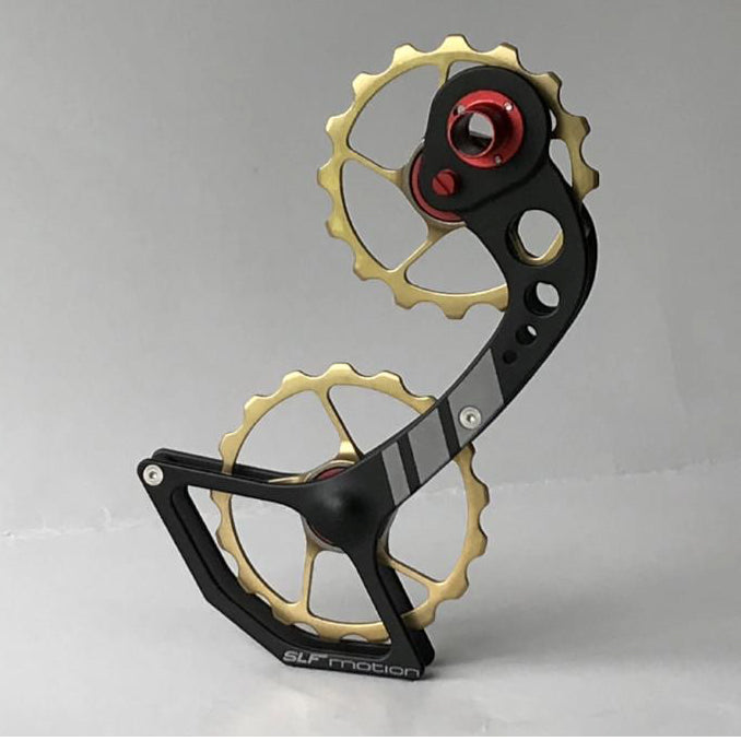 SLF Motion Hyper Speed System for Old Shimano - Black Cage/Gold Wheel