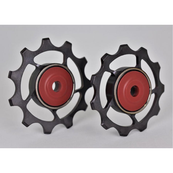 SLF Motion 11T Titanium Hyper Pulley Wheels - Gunmetal Grey