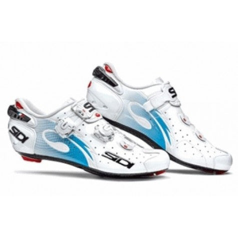 Sidi Wire Carbon Road Shoes - White/Light Blue