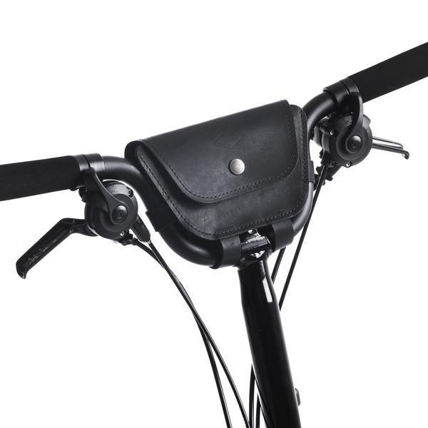 Souma Brompton 2017+ Leather Handlebar Bag - Black