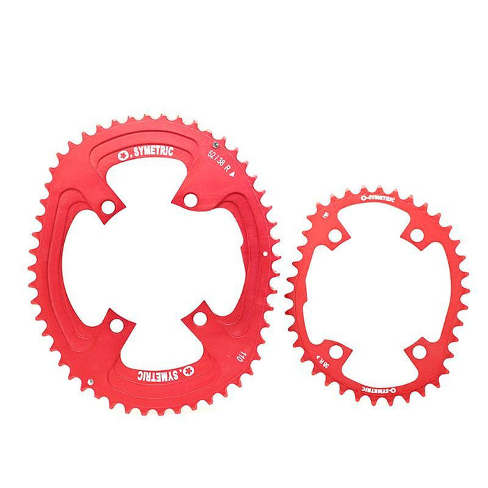 Osymetric New Shimano 4 Bolts BCD 110 - 52/38 Chain Ring (Vuelta Espana Limited Edition)