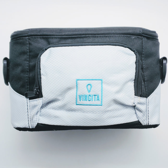 Vincita B013Q-RK Handlebar Camera Bag - White/Black