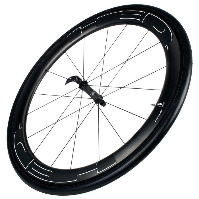 HED Jet 6 Black Front Clincher Road Wheelset