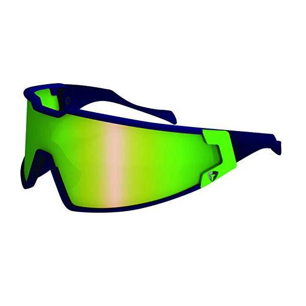 Briko Shot Evoluzione Sunglasses - Shiny Blue Sky/Sulfuric Green