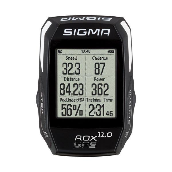 Sigma ROX GPS 11.0 Cycling Computer Set (Include HR/Speed/Cadence Sensor) - Black