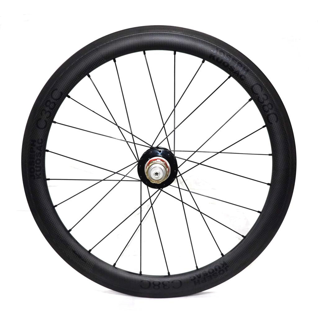 "Joseph Kuosac C38C 20"" Carbon Wheelset (451) - Black Decal"