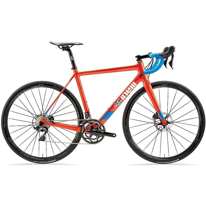 Cinelli Veltrix Disc Road Bike with Shimano 105 - Blue Burns Orange