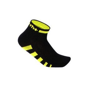 Zero rh+ Ergo 3 Sock - Black/Acid Yellow