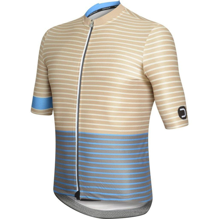 Dotout Stripe Jersey - Brown/Light Blue