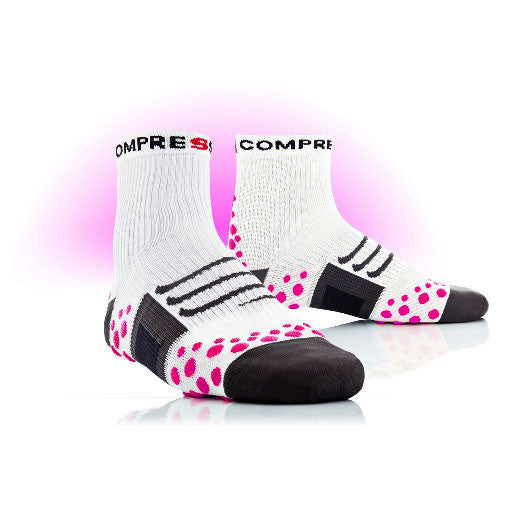 Compressport Bike Pro Racing Socks - White Pink