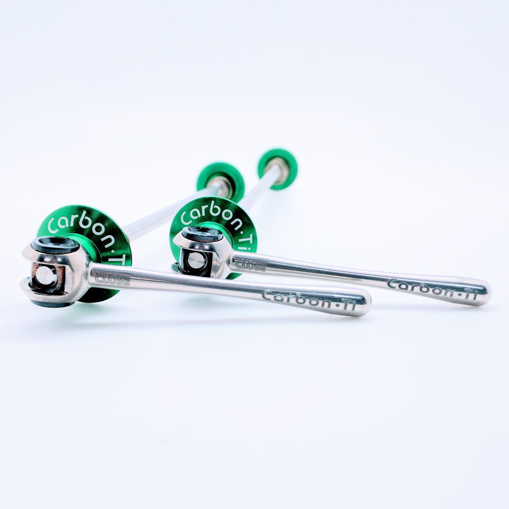 Carbon Ti X-Lock Special Road Ti Skewer - Green
