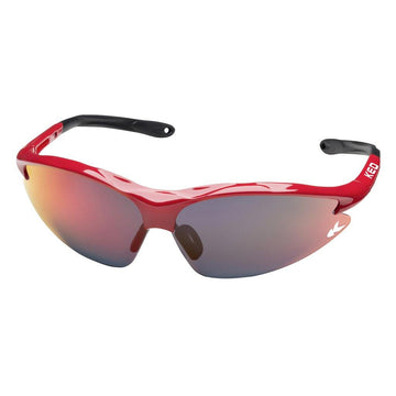 KED Jackal Sunglasses - Red/Multi Red Mirror - SpinWarriors