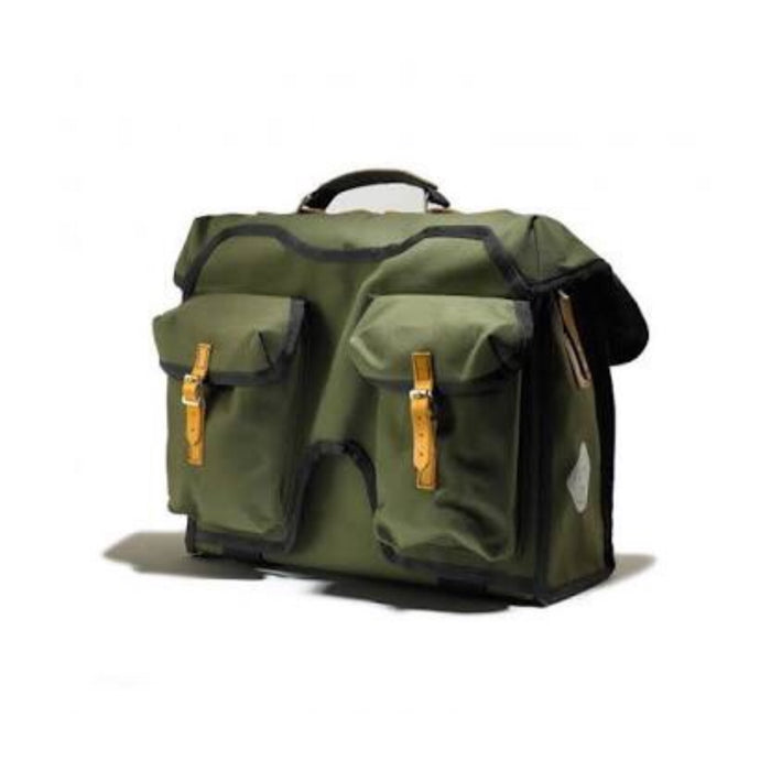 Carradice City Folder M Bag - Green/Honey Straps