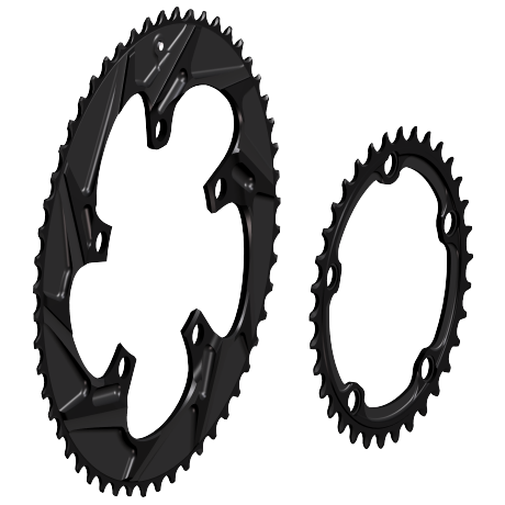 WickWerks Road Ultra Wide 53/34 Chain Ring - 5 Bolts/BCD110