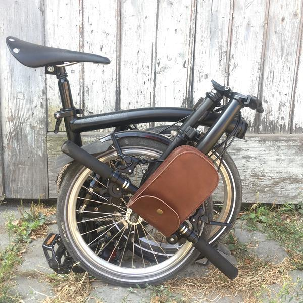 Souma Brompton Large Leather Handlebar Bag - Brown
