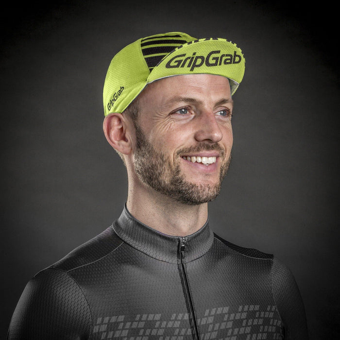 GripGrab Lightweight Summer Cycling Cap - Yellow Hi-Vis