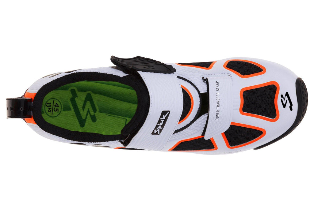 Spiuk Trivium Triathlon Shoe - White/Orange/Black