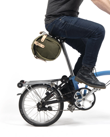 Frost+Sekers Brompton Otis SaddleBag - Olive Green - SpinWarriors