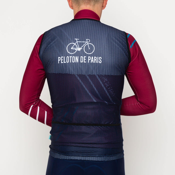 Peloton de Paris Race Gilet - Navy