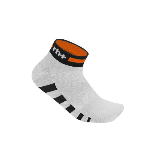 Zero rh+ Ergo 3 Sock - White/Black/Dark Orange