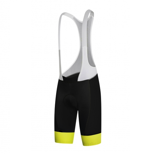 Zero rh+ Hero Bibshort - Black/Acid Yellow