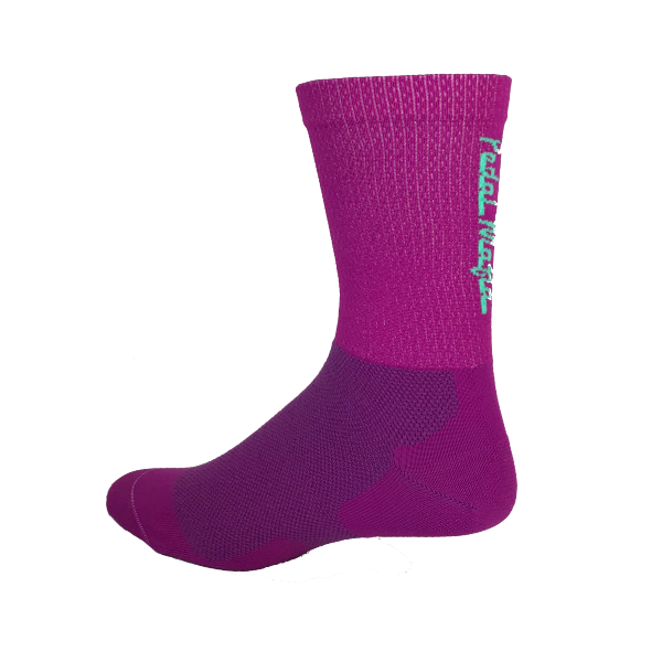Pedal Mafia Violet Purple & Baby Blue Tech Mesh Sock