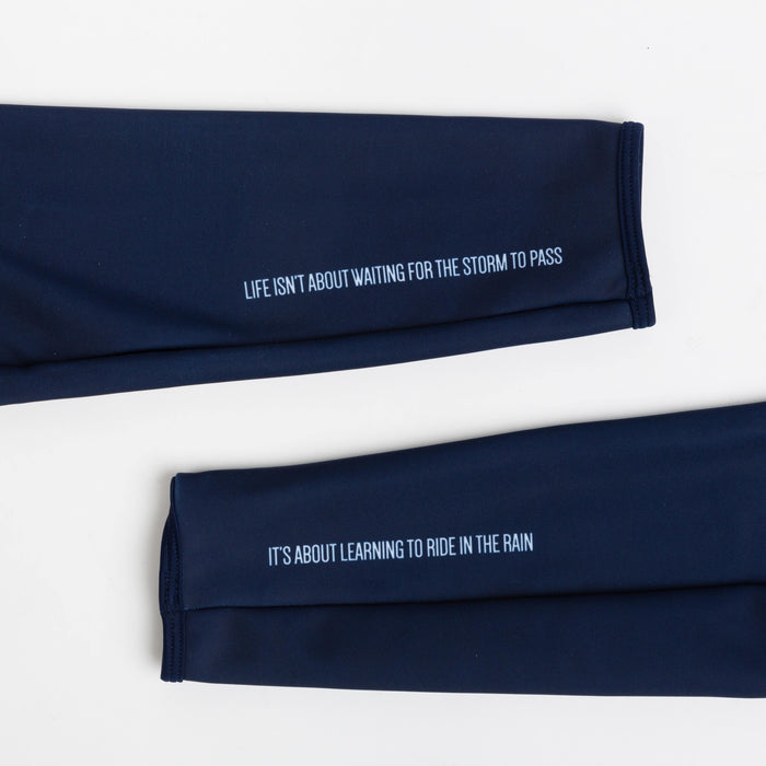 Peloton de Paris Storm Navy Arm Warmers