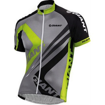 Giant Enhanced SS Var1 Triangle Jersey - Grey/Green