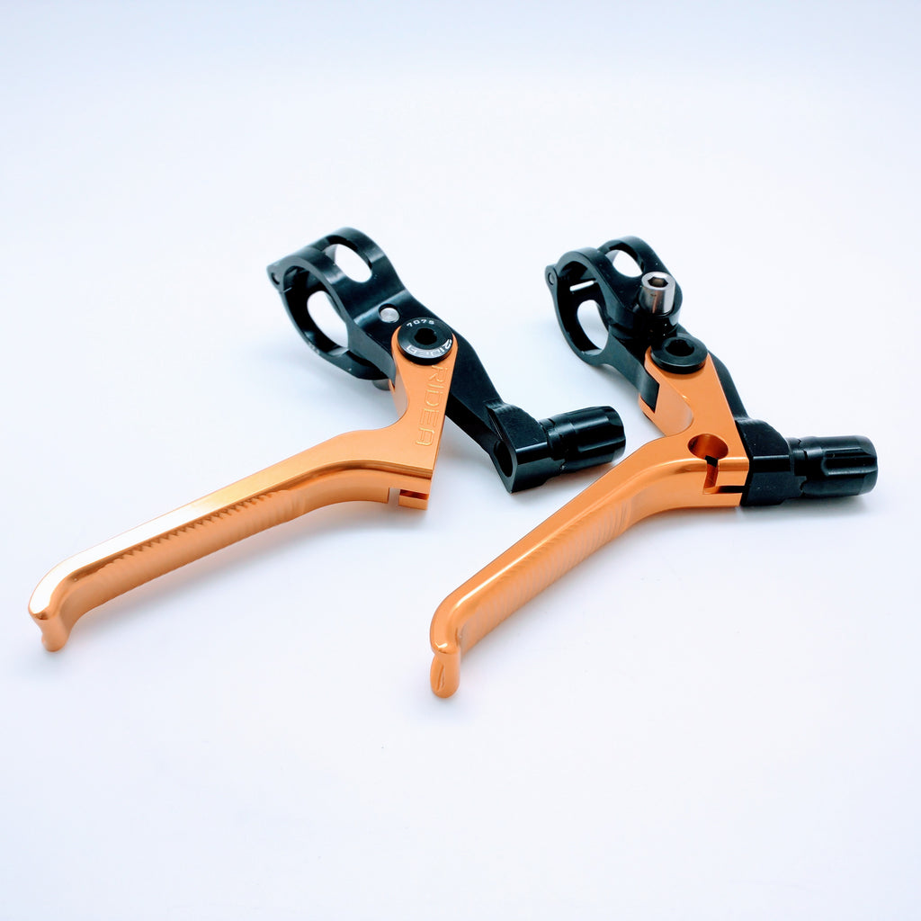 Ridea ESBH2-CB Brompton 3D Long Brake Lever - Gold (2pcs)