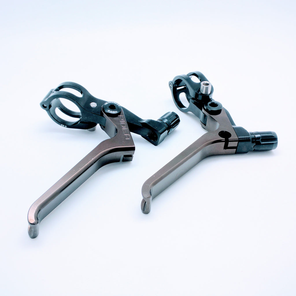 Ridea ESBH-CR Brompton Long Brake Lever - Black Copper (2pcs)