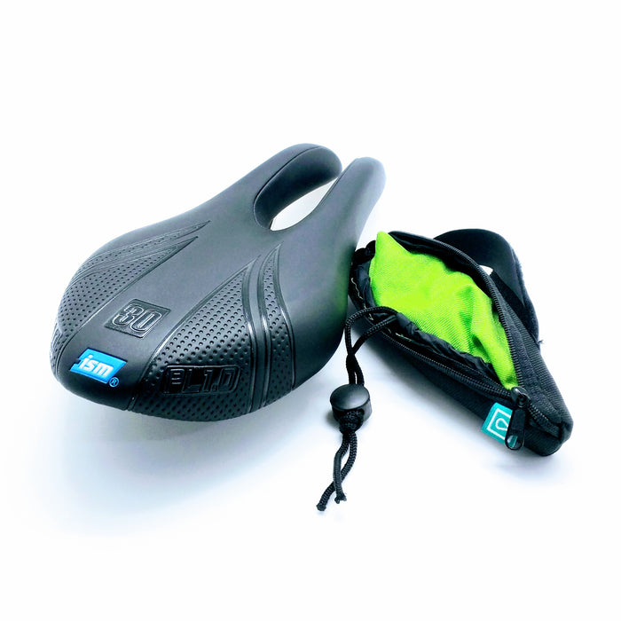 Vincita B504B-GN Saddle Rain Cover - Green Fluo