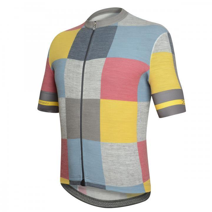 Dotout Square Jersey - Blue/Yellow/Fuchsia