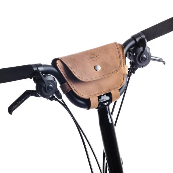Souma Brompton 2017+ Leather Handlebar Bag - Topaz